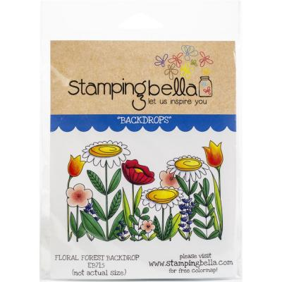Stamping Bella Cling Stamps - Floral Forest Backdrop