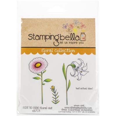 Stamping Bella Cling Stamps - Side To Side Floral