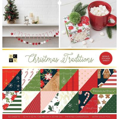 American Crafts DCWV Designpapier - Christmas Traditions