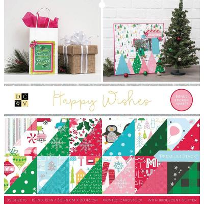 American Crafts DCWV Designpapier - Happy Wishes