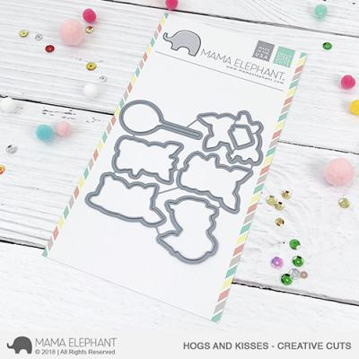 Mama Elephant Creative Cuts - Hogs And Kisses