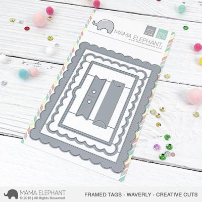 Mama Elephant Creative Cuts - Framed Tags