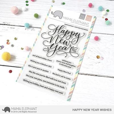 Mama Elephant Clearstamps - Happy New Year Wishes