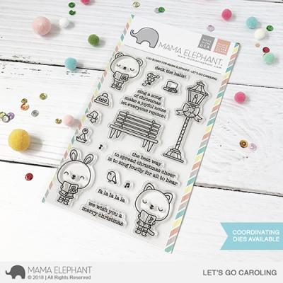 Mama Elephant Clearstamps - Let's Go - Caroling