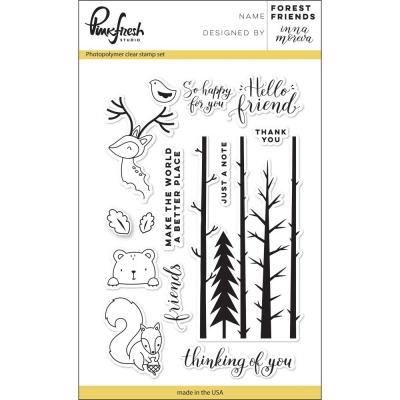 Pinkfresh Studio Clear Stamps - Forest Friends