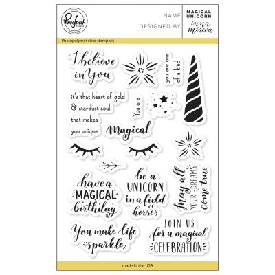 Pinkfresh Studio Clear Stamps - Magical Unicorn