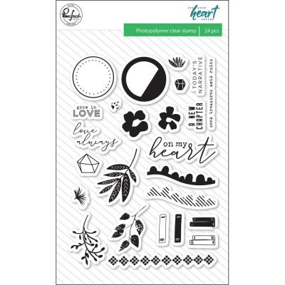 Pinkfresh Studio Clear Stamps - Let Your Heart Decide