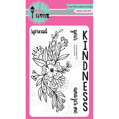 Pink & Main Clear Stamps - Kindness Floral