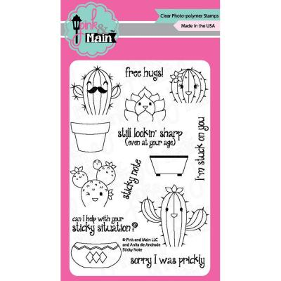 Pink & Main Clear Stamps - Sticky Note