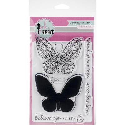Pink & Main Clear Stamps - You Can Fly