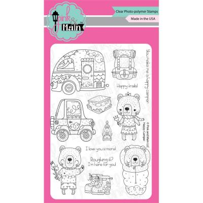 Pink & Main Clear Stamps - Happy Campers