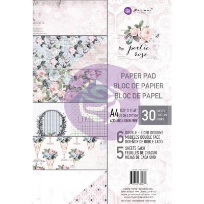 Prima Marketing Paper Pad Poetic A4 Rose