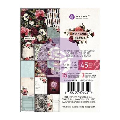 Prima Marketing Journaling Cards - Midnight Garden