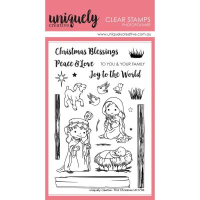 Uniquely Creative Clearstamps - First Christmas