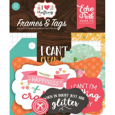 Echo Park I Heart Crafting - Frames & Tags