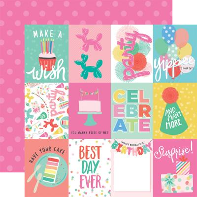 Echo Park Let's Party - 3x4 Journaling Cards