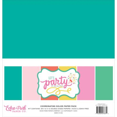 Echo Park - Let's Party Solids Paper Pack
