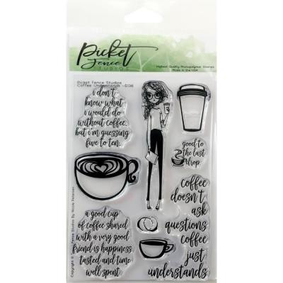 Picket Fence Studios Clearstamps - Coffee Understands