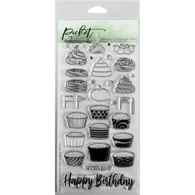 Picket Fence Studios Clearstamps - Cupcake Love