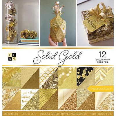 DCWV Paperpad 12x12 - Solid Gold