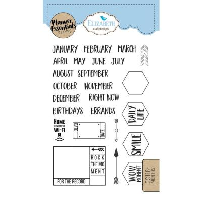 Elizabeth Craft Clear Stamps - Months