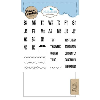 Elizabeth Craft Clear Stamps - Schedule