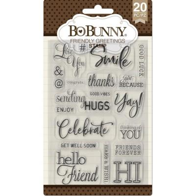 BoBunny Clear Stamps - Friendly Greetings
