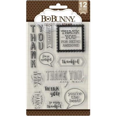 BoBunny Clear Stamps - Gratitude