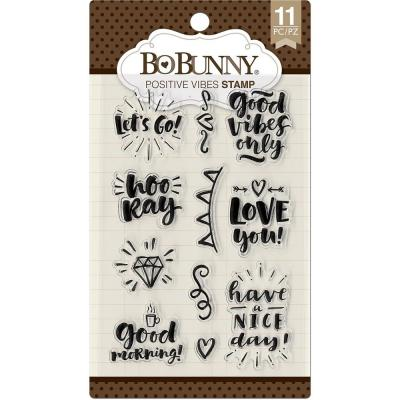 BoBunny Clear Stamps - Positive Vibes