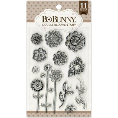 BoBunny Clear Stamps - Doodle Blooms