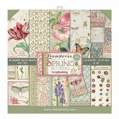 Stamperia 12x12 Inch Paper Pack - Spring Botanic