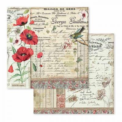 Stamperia Spring Botanic - Poppy & Little Bird