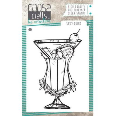 COOSA Crafts Clear Stamp - Sexy Drink