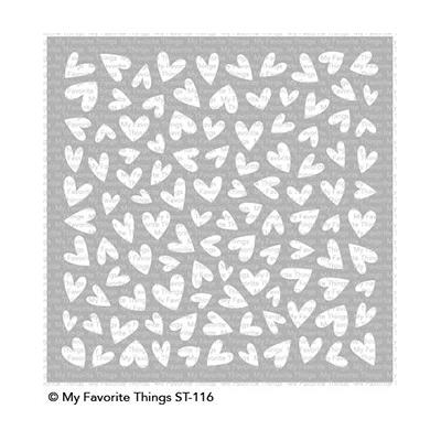 My Favorite Things - Stencil Lots of Heart