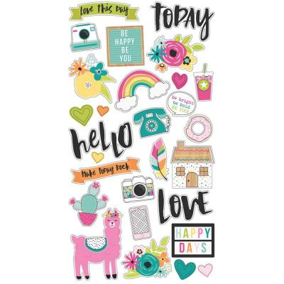 Simple Stories Oh Happy Day - Oh Happy Day - Chipboard Stickers