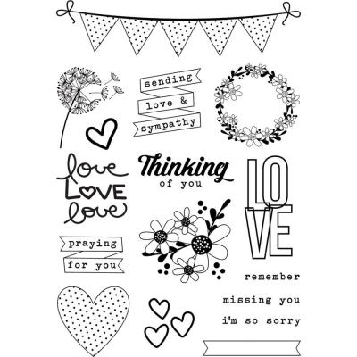 Simple Stories Clear Stamps - Heart
