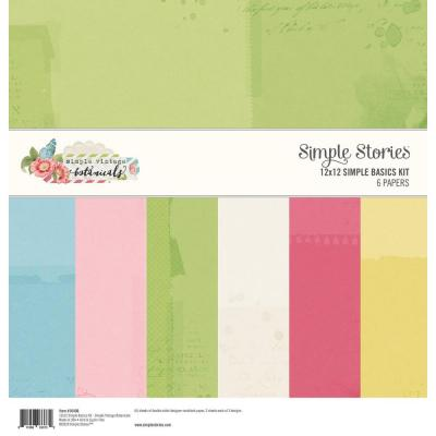 Simple Stories Basics Cardstock - Vintage Botanicals