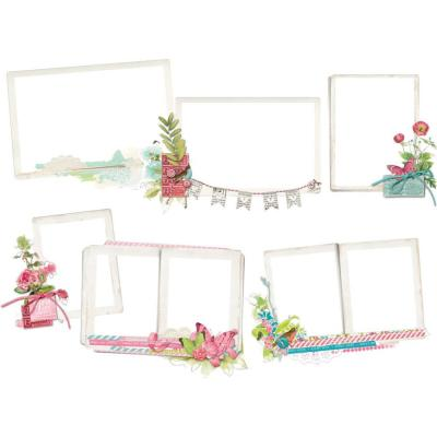 Simple Stories Vintage Botanicals - Layered Frames