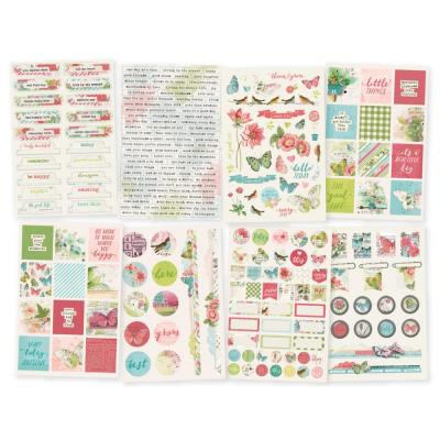 Simple Stories Vintage Botanicals - Sticker