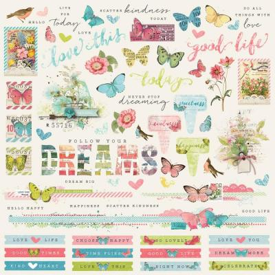 Simple Stories Vintage Botanicals - Cardstock Sticker
