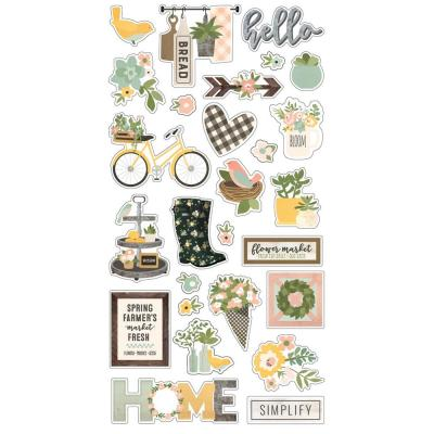 Simple Stories Spring Farmhouse - Chipboard Sticker