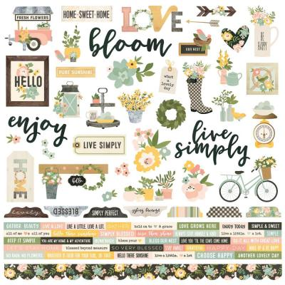 Simple Stories Spring Farmhouse - Cardstock Sticker