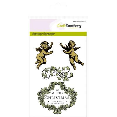 CraftEmotions Clear Stamp - Engel Ornament