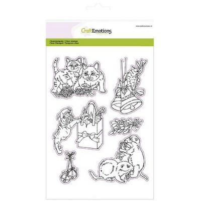CraftEmotions Clear Stamp - Christmas Pets 3