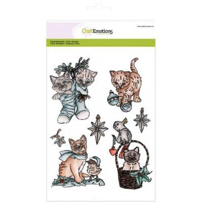 CraftEmotions Clear Stamp - Christmas Pets 2