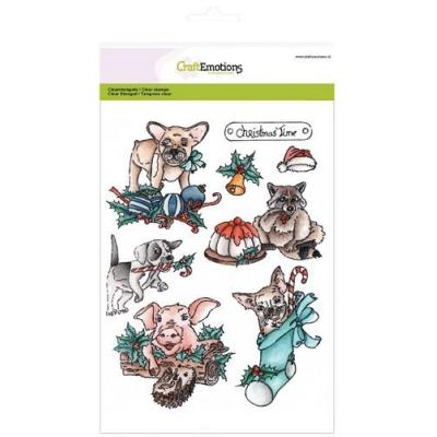 CraftEmotions Clear Stamp - Christmas Pets 1