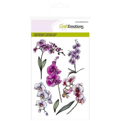 CraftEmotions Clear Stamp - Orchidee Zweige