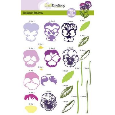 CraftEmotions Clear Stamp - Veilchen Sweet Violets