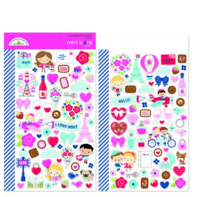 Doodlebug French Kiss - Mini Icons Sticker
