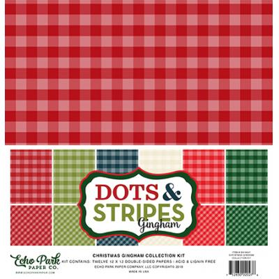 Echo Park Christmas Gingham Collection Kit